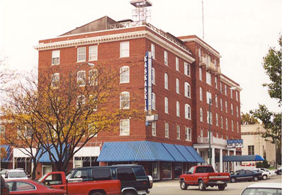 The Kaskaskia Hotel In Downtown La Salle Right October 2001 Photo Above 1950s Postcard Curt Teich Archives Lake County Illinois Discovery