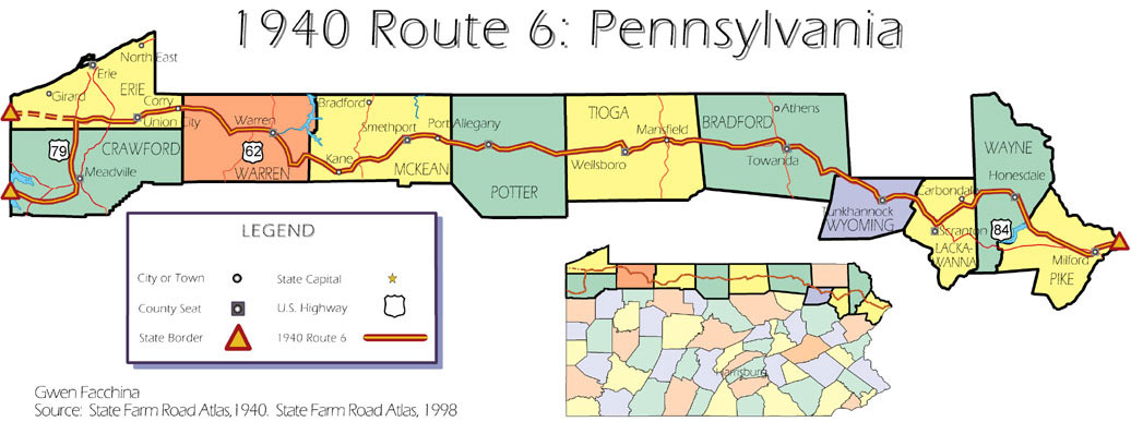 Route The Longest Transcontinental Highway - Us route 6 map